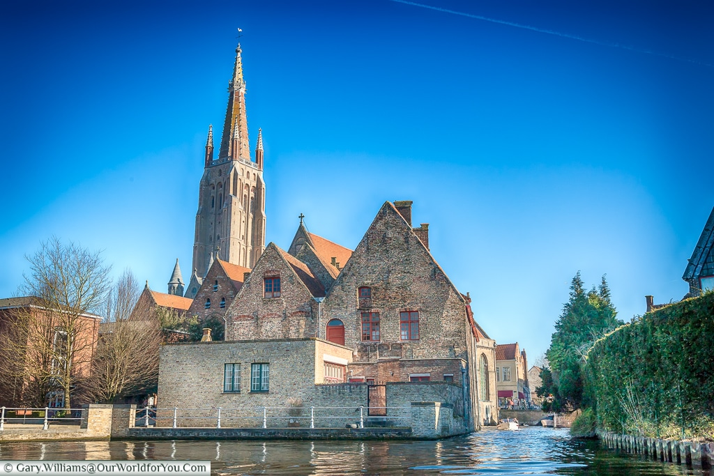 The view from the canal, Bruges, Belgium