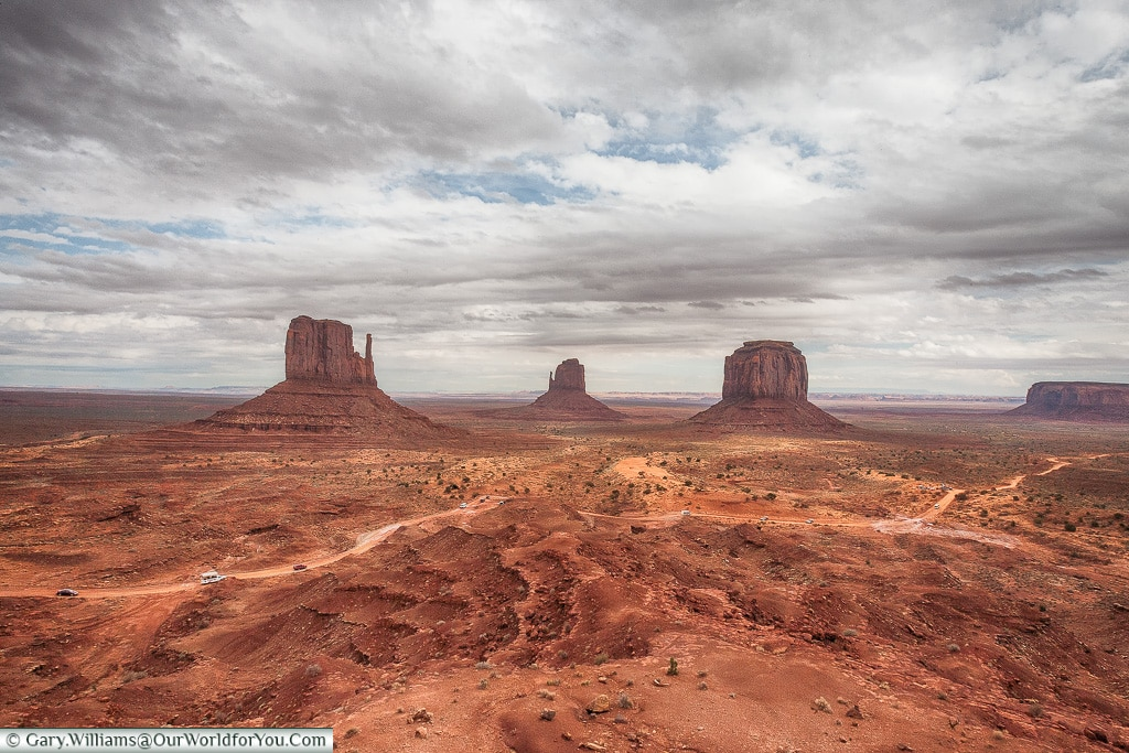 The view over Monument Valley, USA