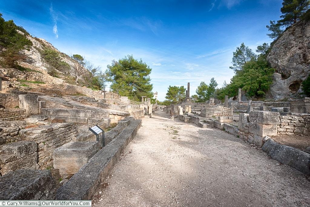 Walking through the ancient town, Glanum, Saint-Rémy-de-Provence, France