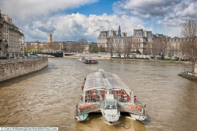 A boat trip on the Seine, Paris, France