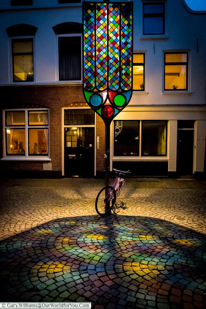Bright lights by Buurkerk, Trajectum Lumen, Utrecht, Netherlands