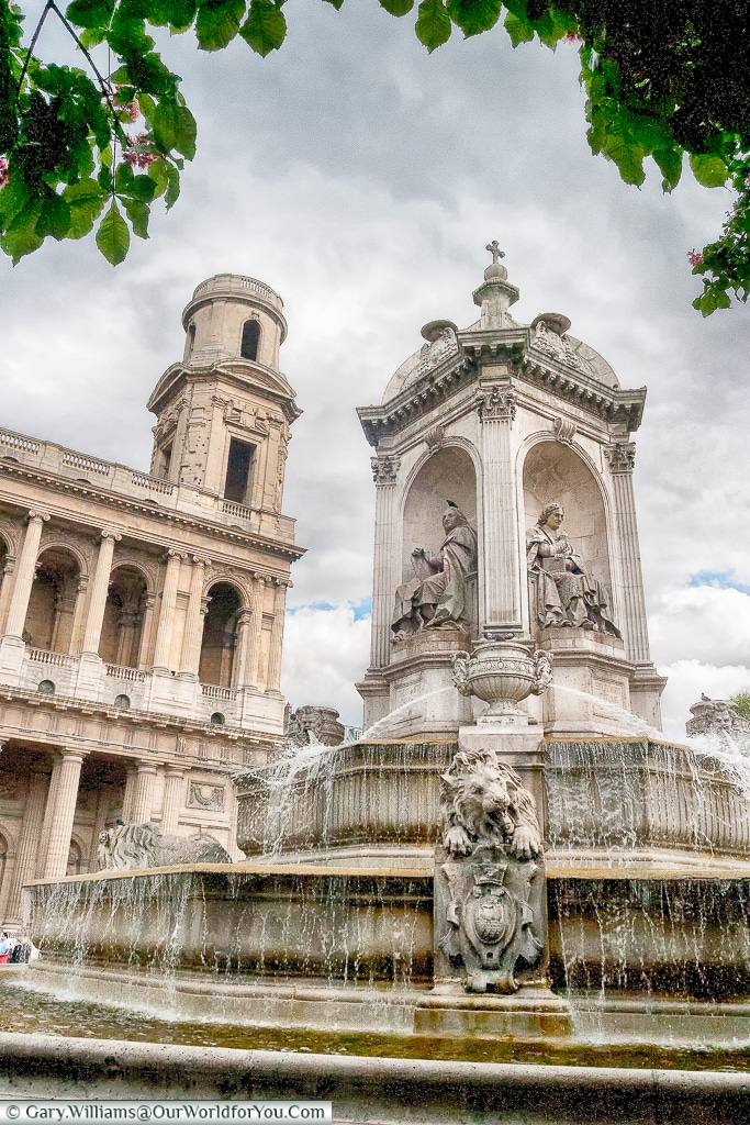 Fontaine Saint-Sulpice with the Church in the background, Paris,
