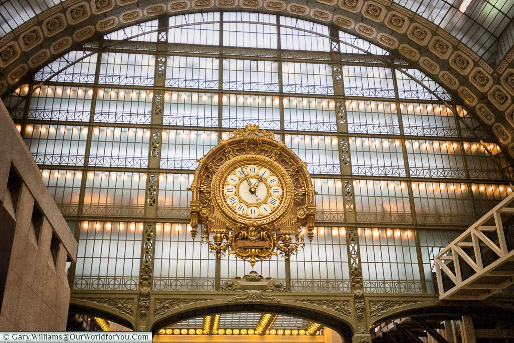 Inside the Museum D'Orsay, Paris, France