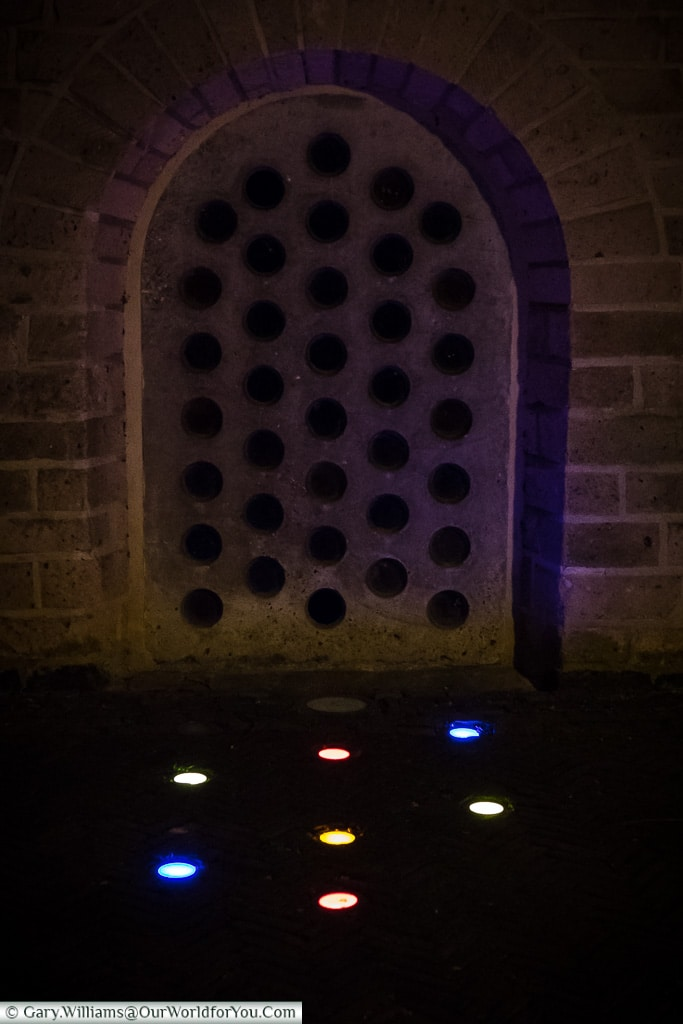 Little dots at Saint Peter Church, Trajectum Lumen, Utrecht, Netherlands