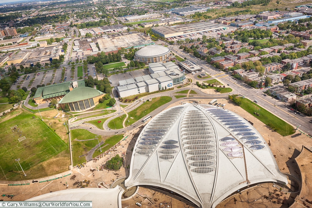 Looking down at the Olympic Park, Montreal, Canada