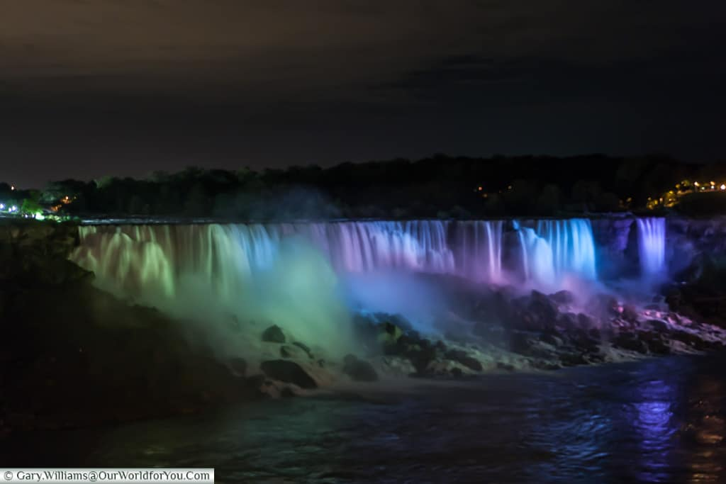 Niagara Falls at night, Niagara Canada