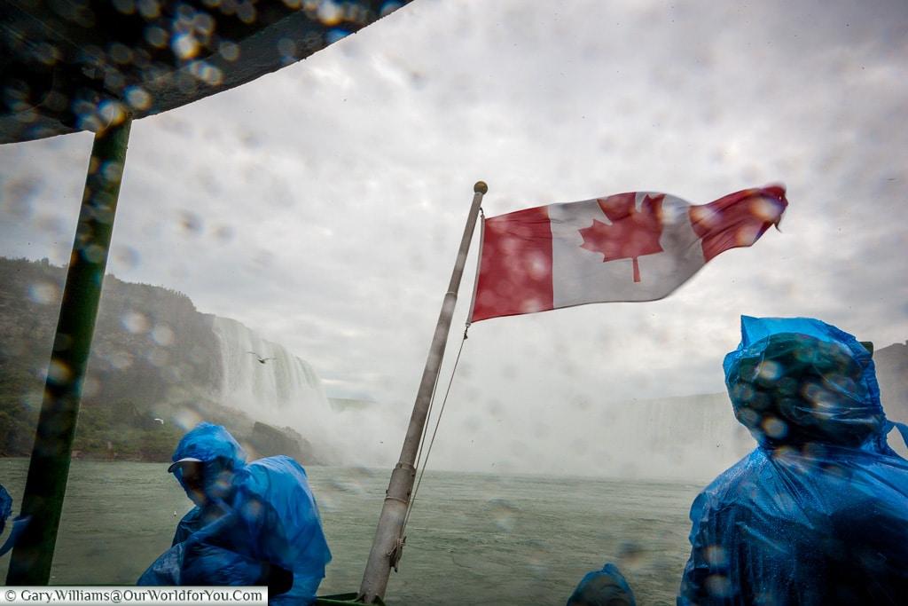 On board the Maid of the Mist, Niagara Falls, Niagara, Canada