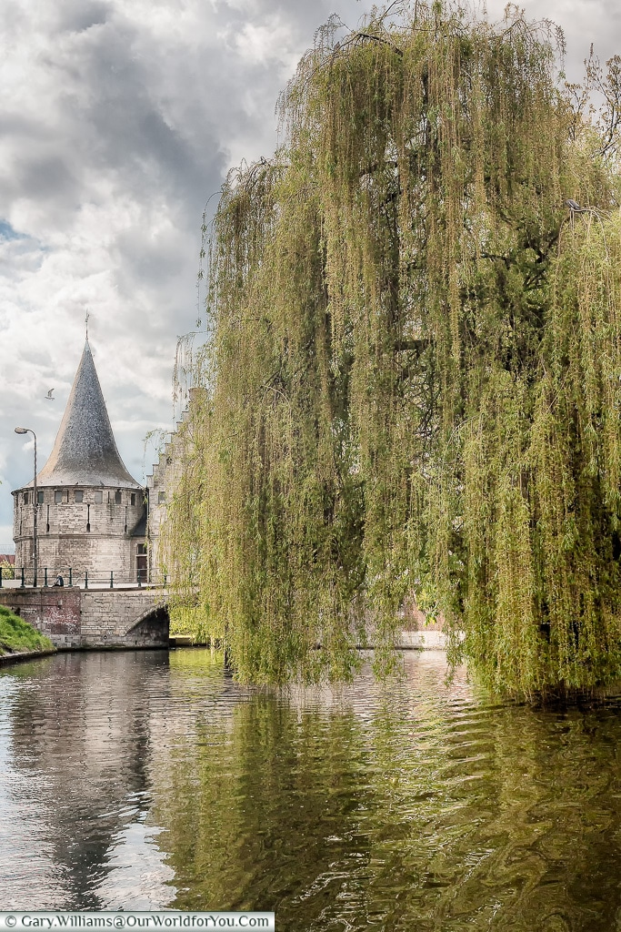 The Rabot as seen from the canal trip, Ghent, Belgium