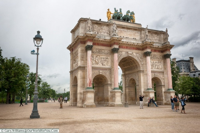 The Arc de Triomphe du Carrousel, Paris, France