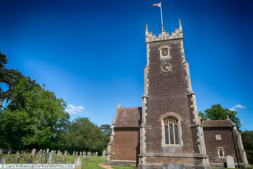 The Church tower, Sandringham, Norfolk, England, UK
