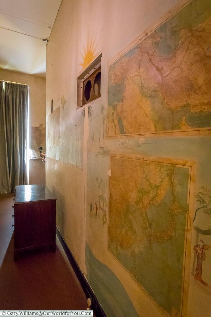 The Map Room, Eltham Palace, London, England, UK