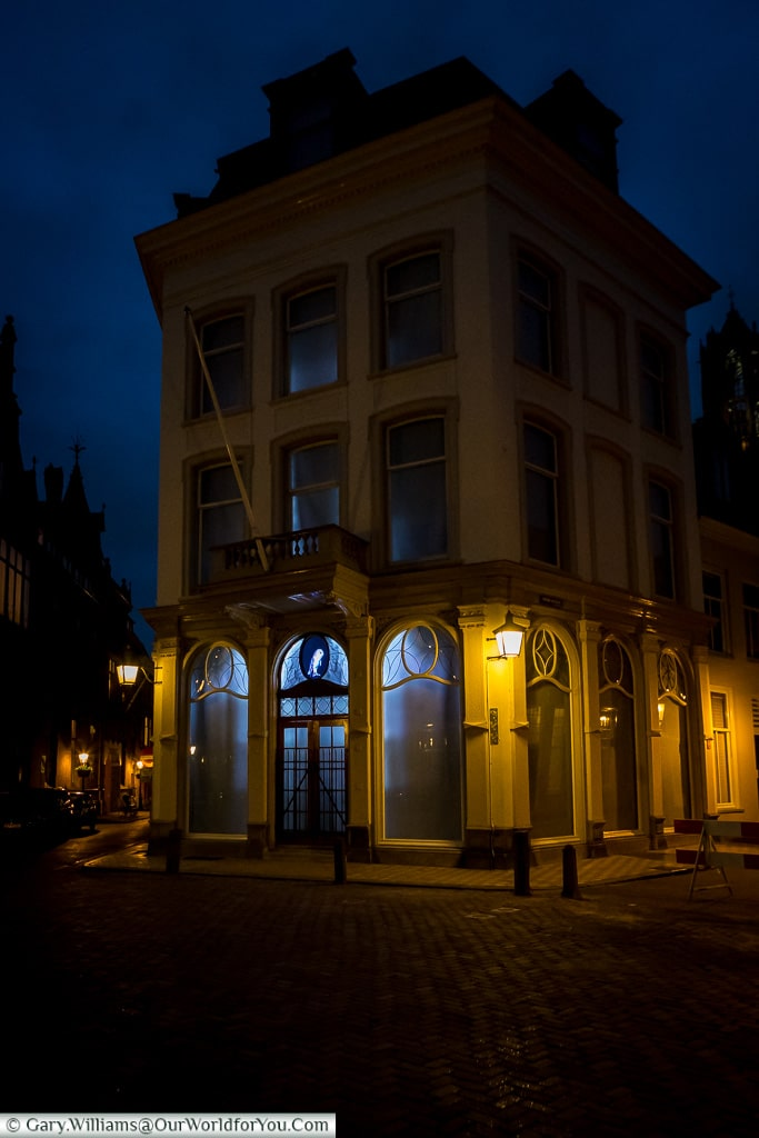 The Royal Commissioners residence and owl, Trajectum Lumen, Utrecht, Netherlands