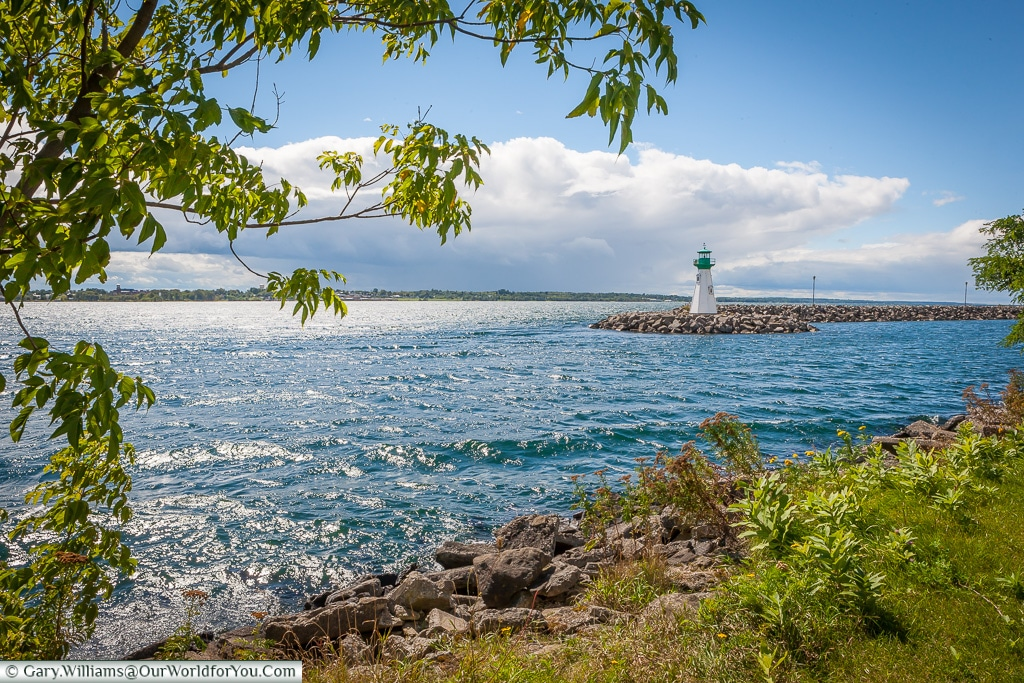 The St Lawrence Seaway from Prescott, Ontario, Canada