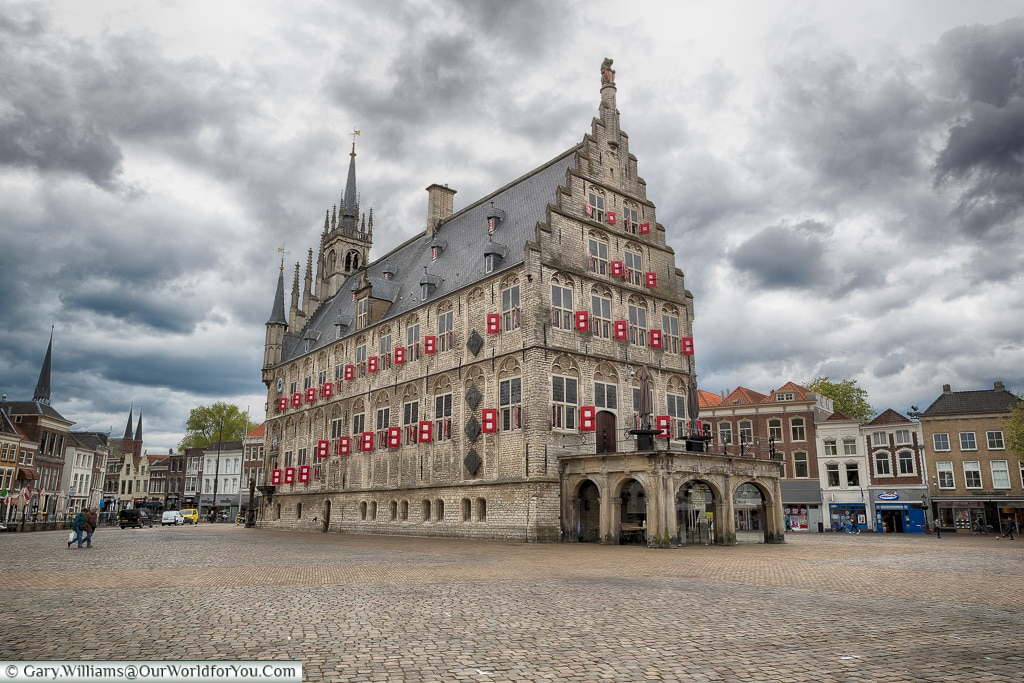 The Townhall in central square, Gouda, Holland, Nethelands