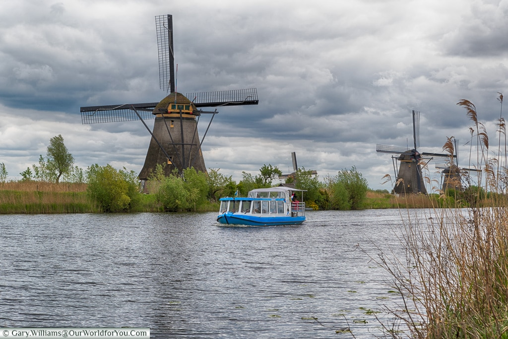 The electric tour boat, Kinderdijk, Holland, Netherlands