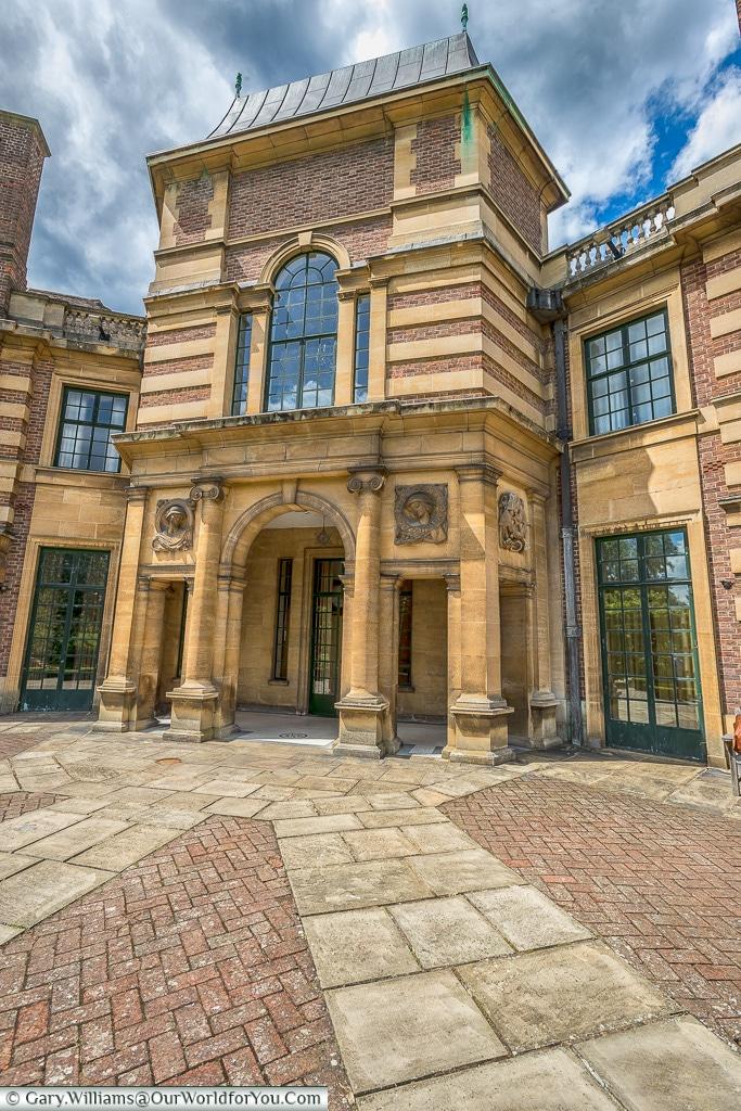 The entrance to the gardens, Eltham Palace, London, England, UK