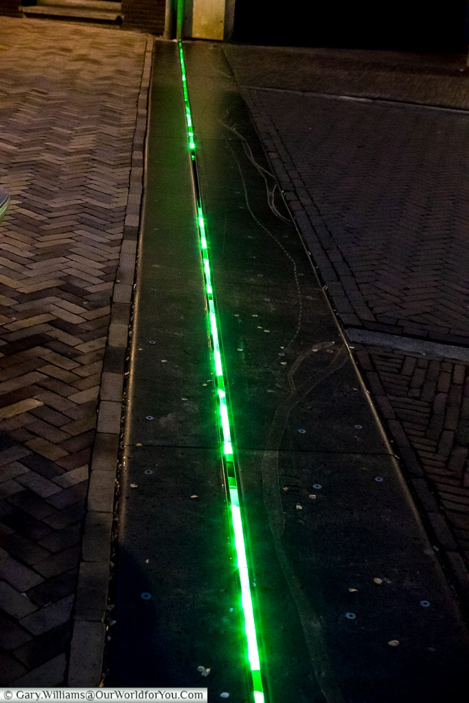 The line of the old fortress walls, Trajectum Lumen, Utrecht, Netherlands