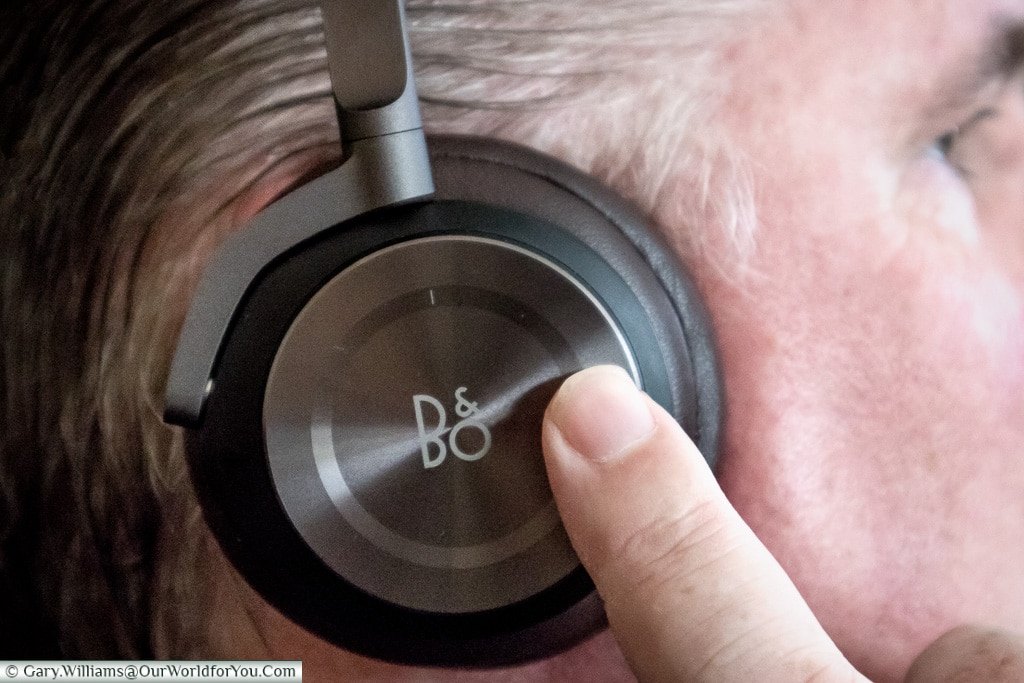 Gesture control on the B&O, or Bang and Olufsen, H8 Headphones