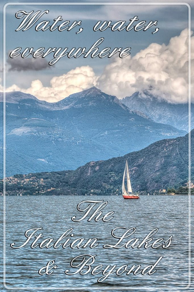 A sail boat on the lake, Lake Como, Lombardy, Italy