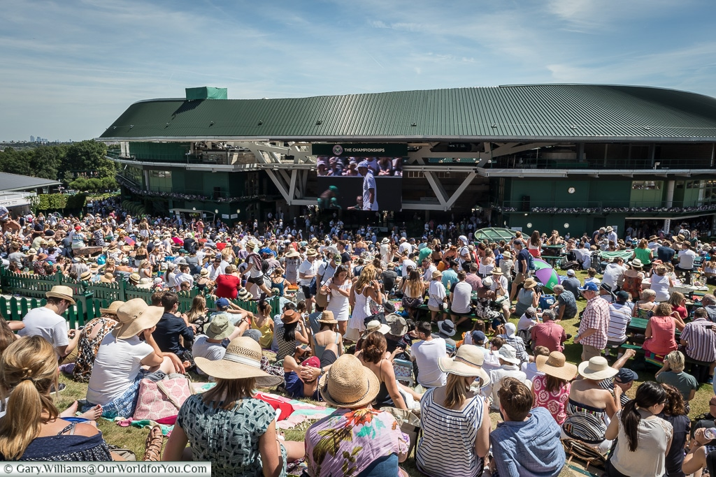 Henman Hill or Murray Mound?, Tennis, Wimbledon, London, England