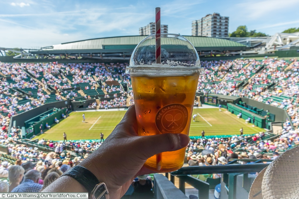 Pimms and Lemonade, Tennis, Wimbledon, London, England, UK