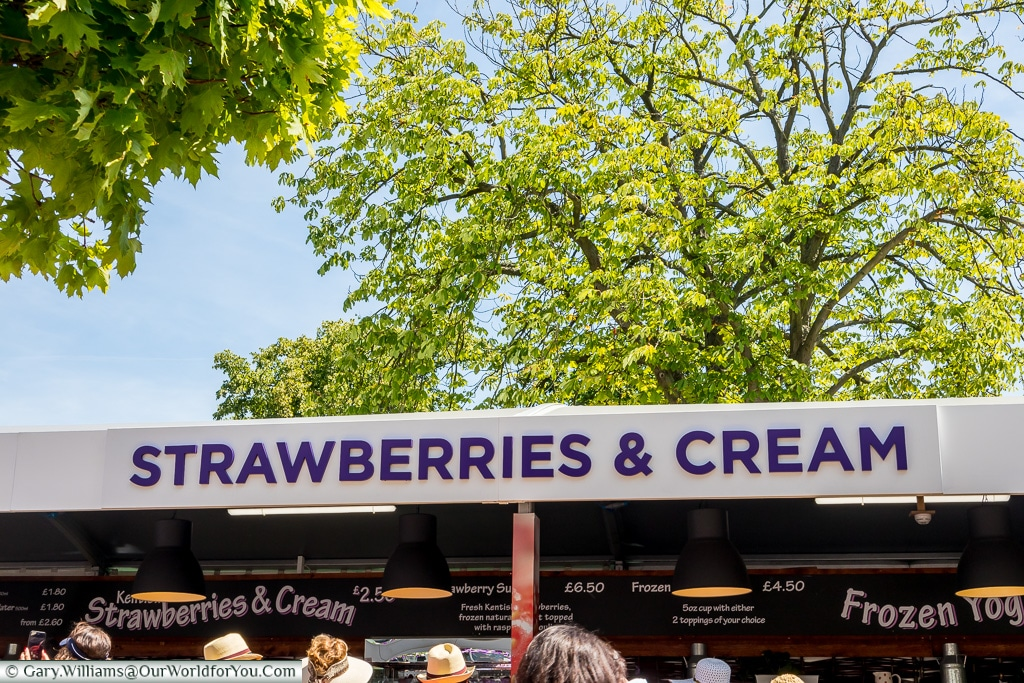Strawberries and Cream, Tennis, Wimbledon, London, England, UK