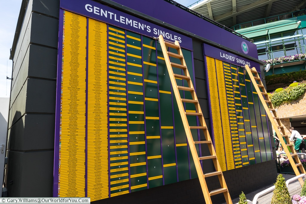 The Champoinship tables, Tennis, Wimbledon, London, England, UK