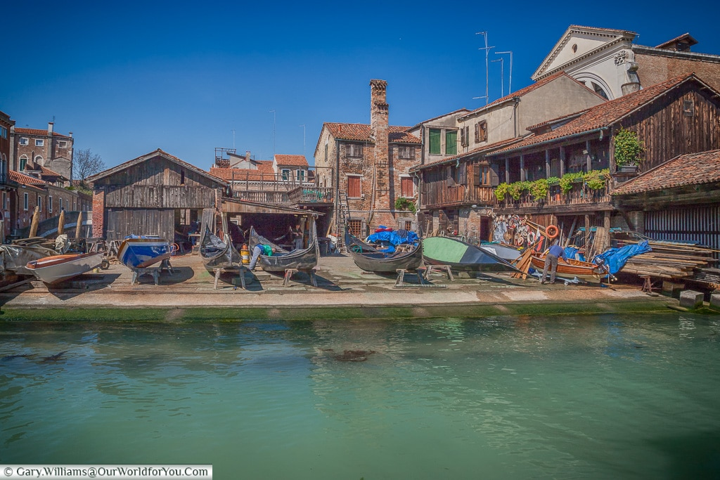 The Gondola boatyard, Venice, Italy