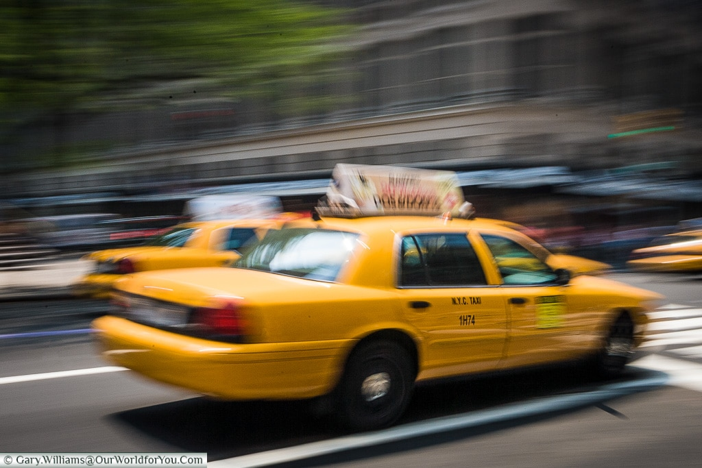 A NYC Taxi, Manhattan, New York, USA