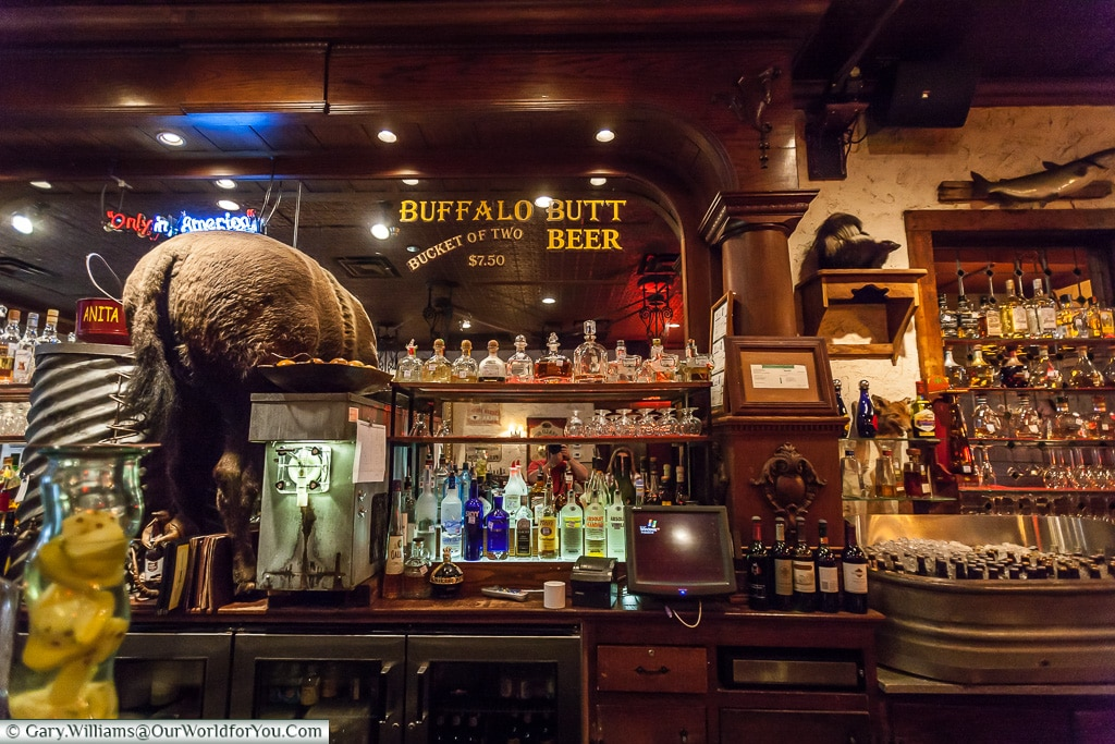 Buffalo Butt Beer, Stockyards. Fort Worth, Texas, USA