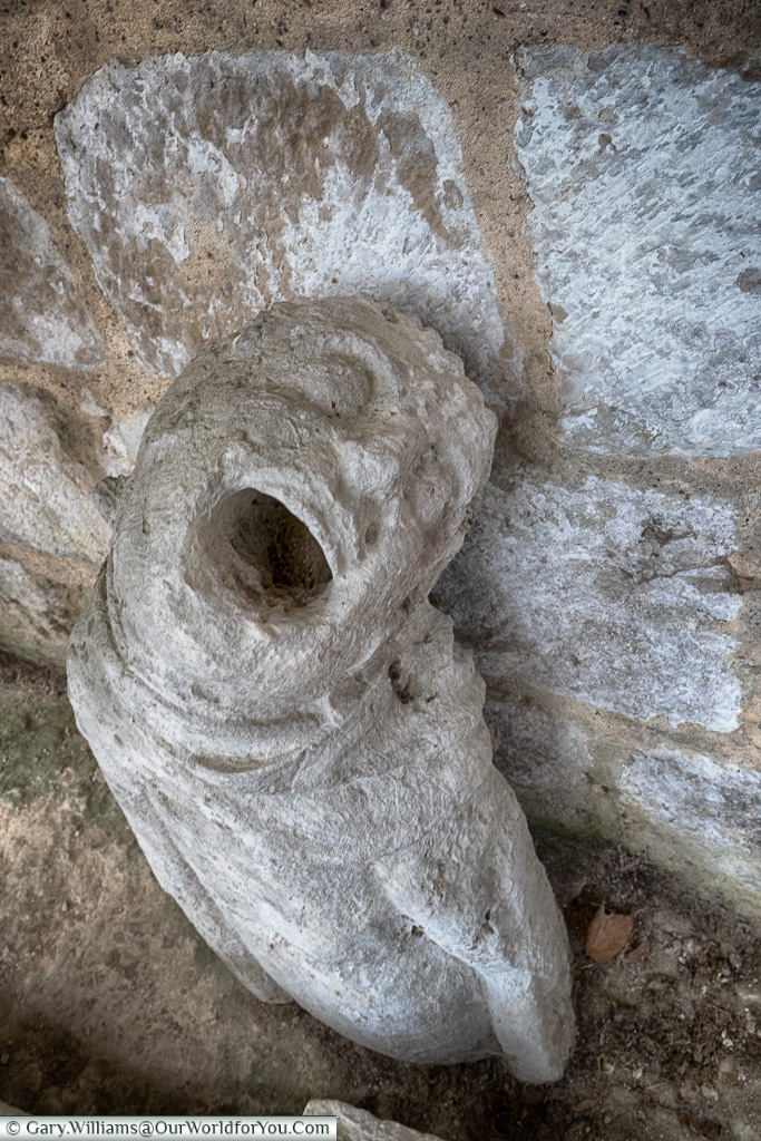 Displaced Gargoyle, Jumieges Abbey, Normandy, France