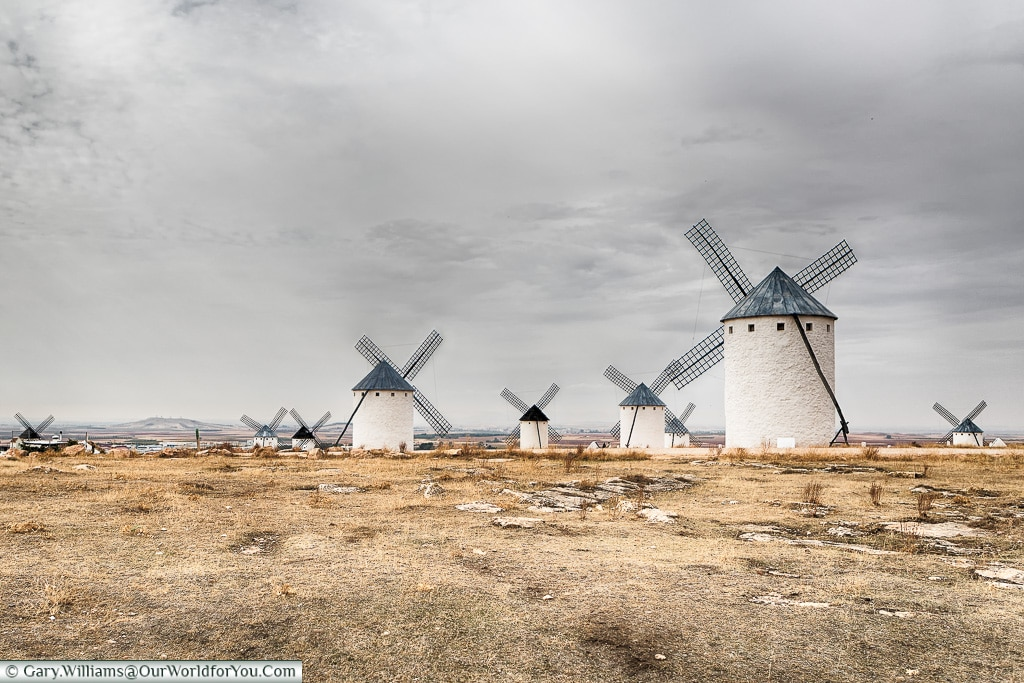 Nine Mills in sight, Campo de Criptana, Spain