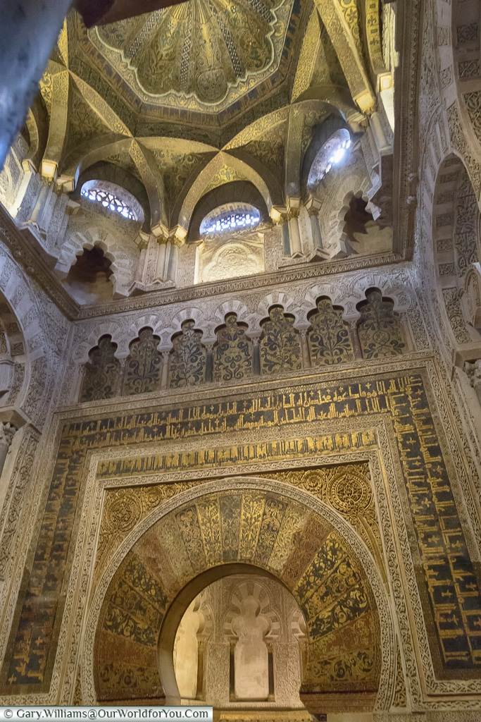The Mihrab inside the Mezquita,Mosque–Cathedral, Córdoba, Spain