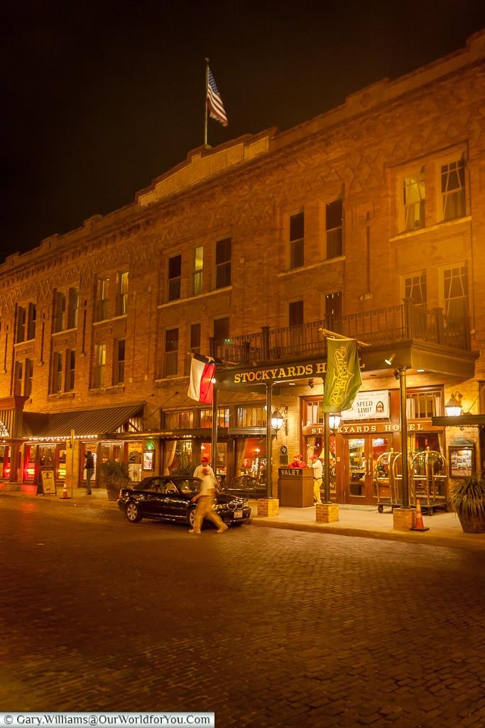 The Stockyards Hotel, Stockyards. Fort Worth, Texas, USA