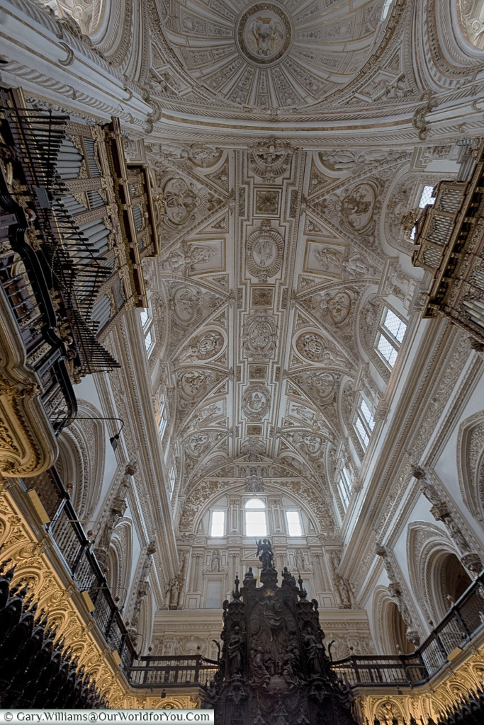 The gothic styling of the Mezquita,Mosque–Cathedral, Córdoba, Spain