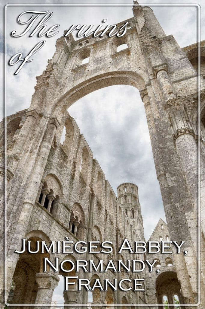 The ruins of Jumieges Abbey, Normandy, France