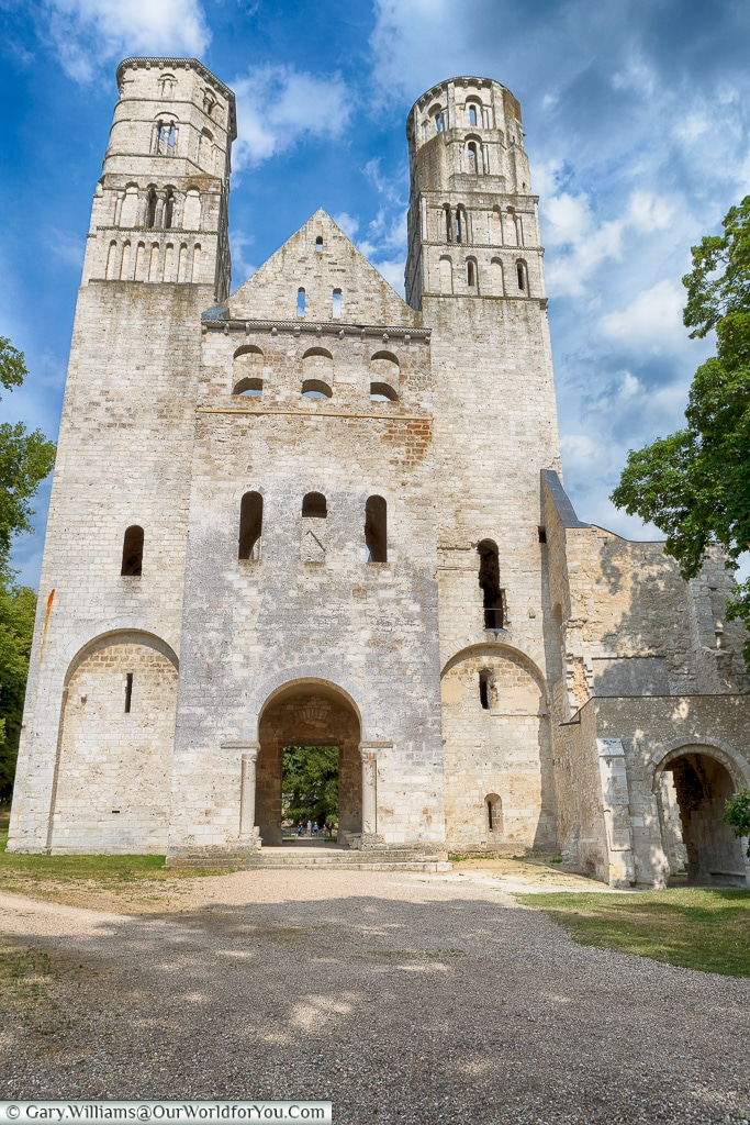 The striking facade, Jumieges Abbey, Normandy, France