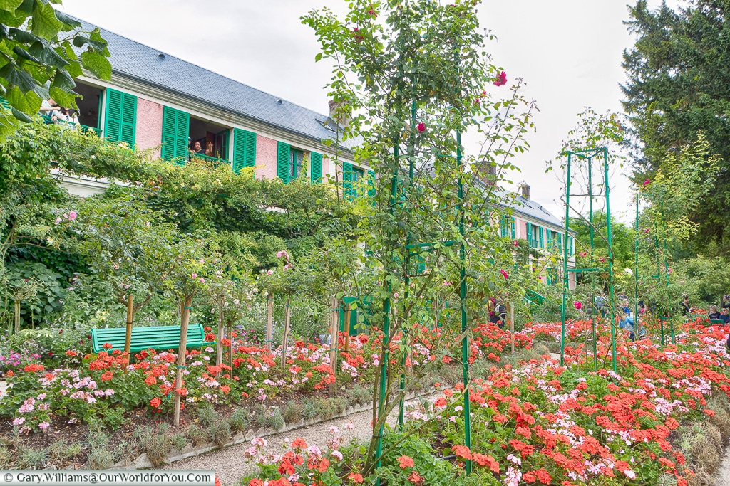 Through the gardens to the house, Giverny, Normandy, France