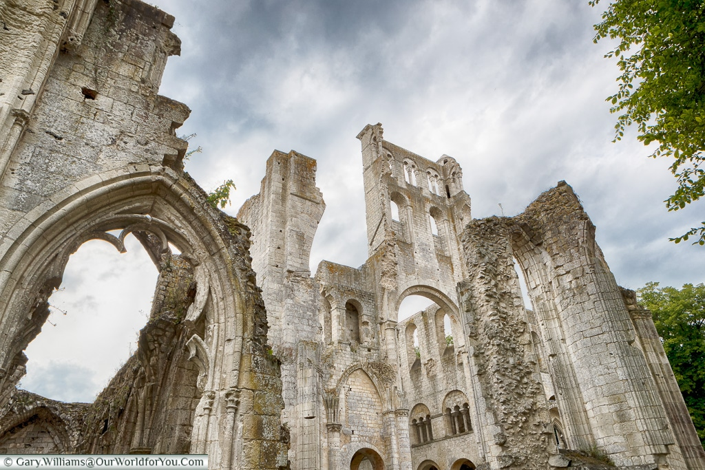 Torn apart, Jumieges Abbey, Normandy, France