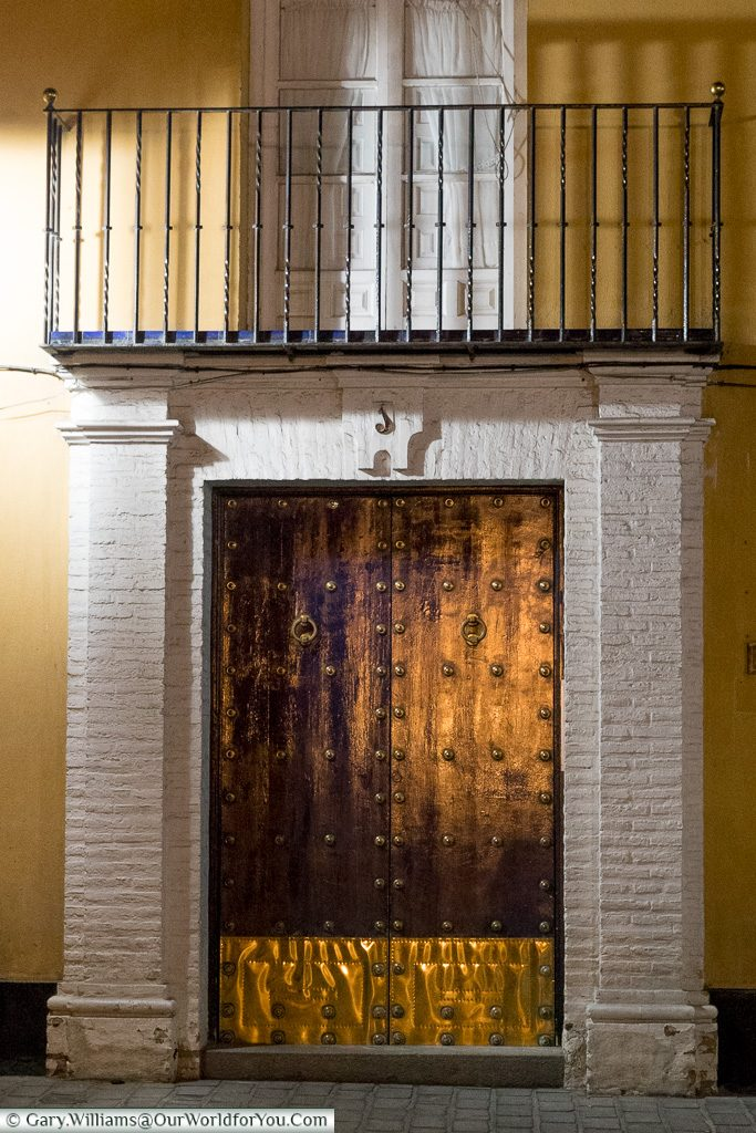 A grand doorway, Seville, Andalusia, Spain