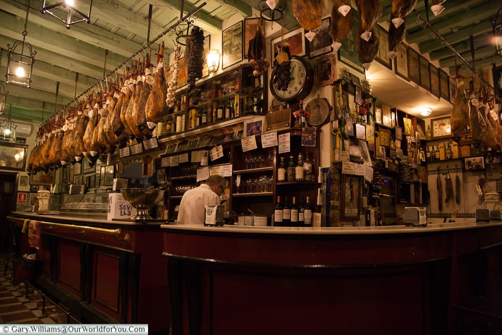 A typical bar, Seville, Andalusia, Spain