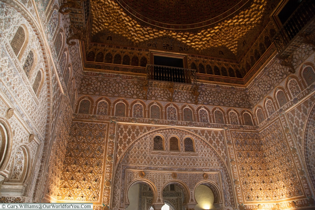 Beautiful rooms in the Alcázar, Seville, Andalusia, Spain