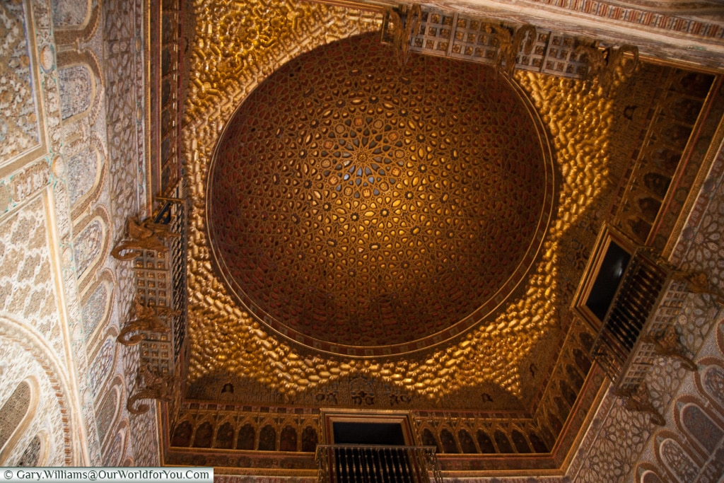 Dont forget to look up in the Alcázar, Seville, Andalusia, Spain