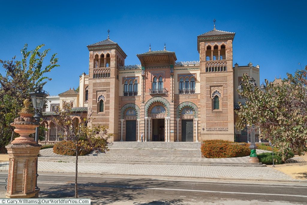 ance to Museum of Popular Arts and Traditions, Seville, Andalusia, Spain