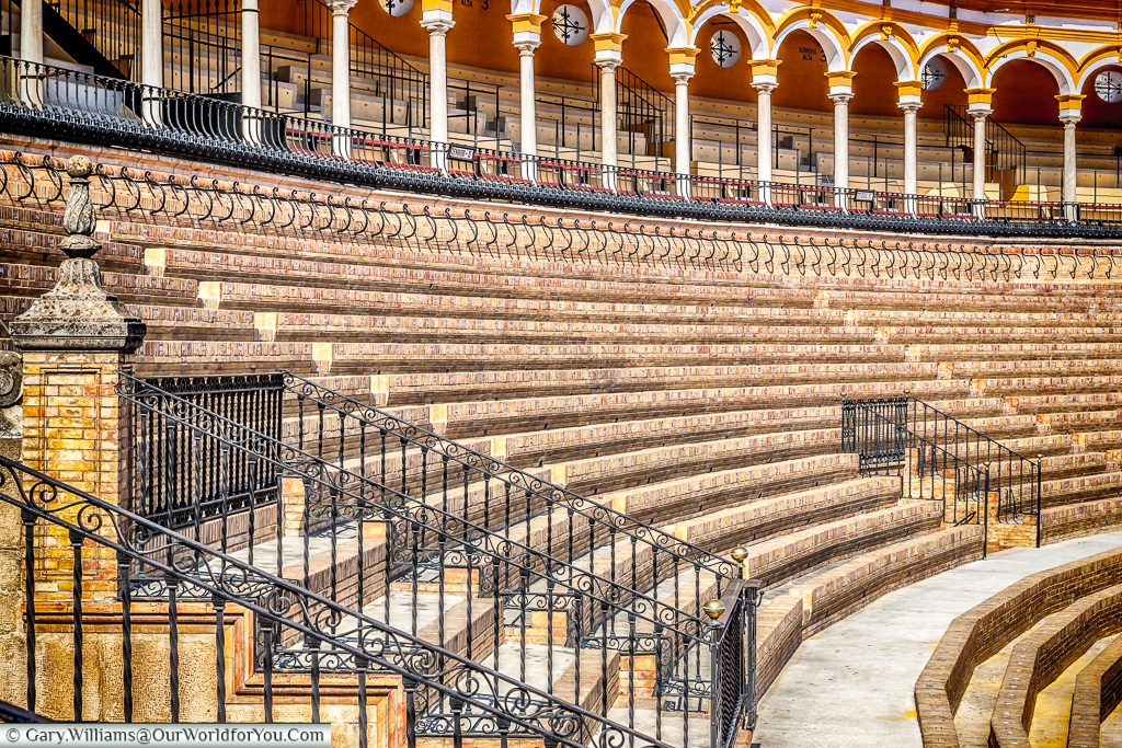 Inside the Bull Ring, Seville, Andalusia, Spain