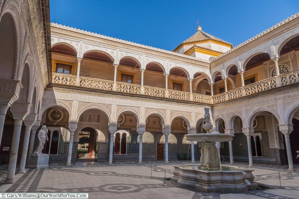 Inside the Casa de Pilatos, Seville, Andalusia, Spain