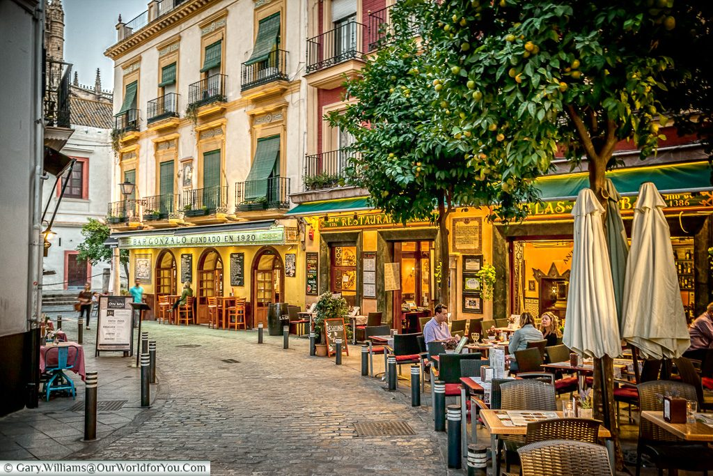 Relaxed dining, Seville, Andalusia, Spain
