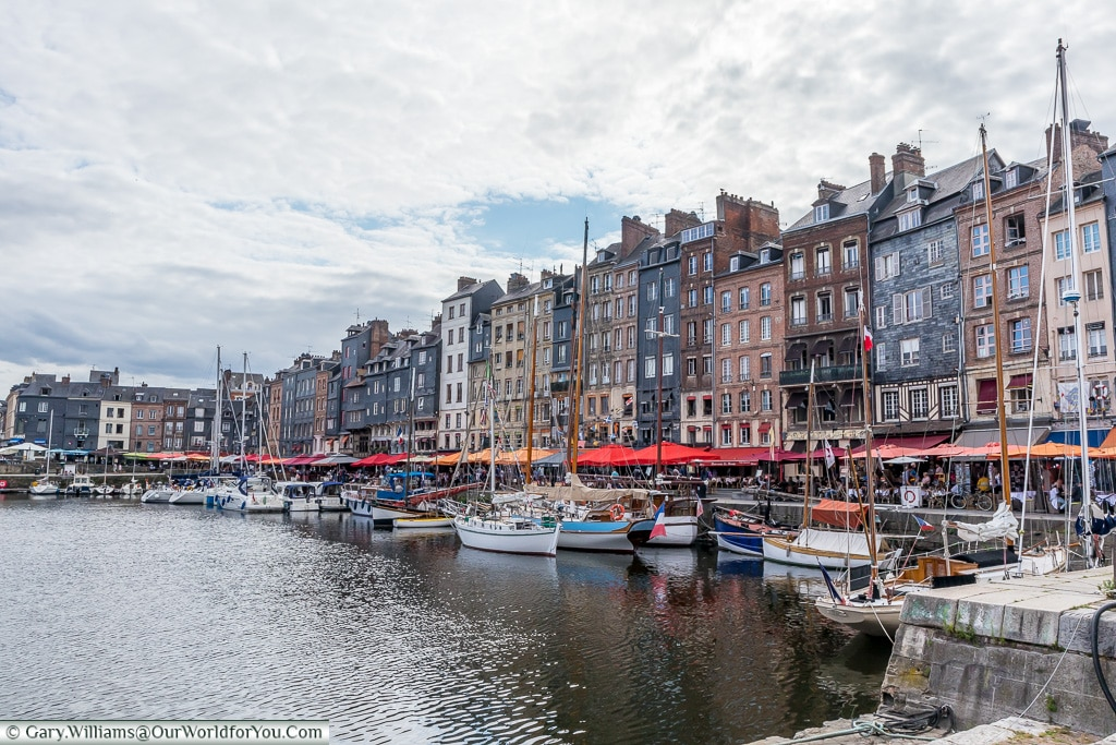 The narrow buildings, Honfleur, Normandy, France