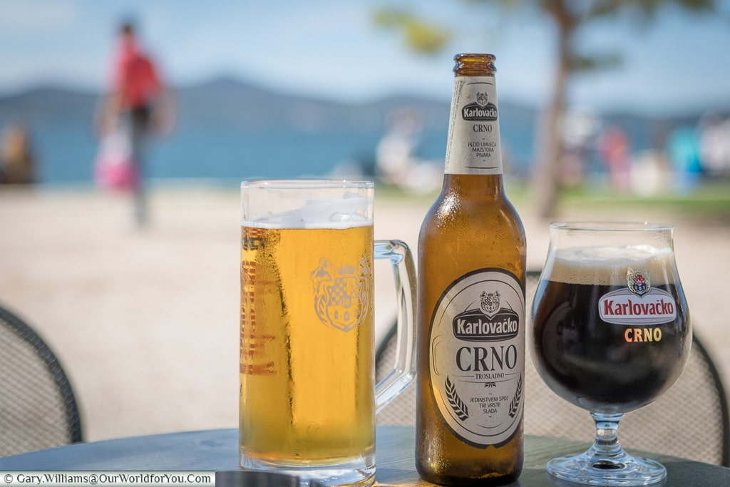 Typical Croatian Beers at Zadar, Croatia
