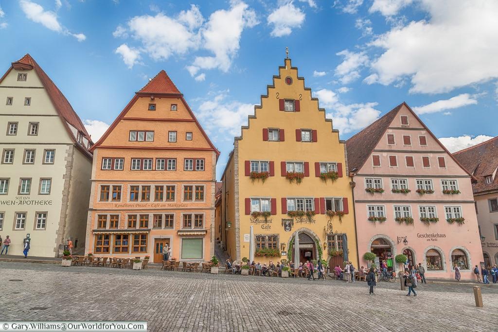 A view across Marktplatz, Rothenburg ob der Tauber, Germany